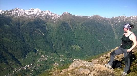 Veduta da Cima Camposecco, 2300 m