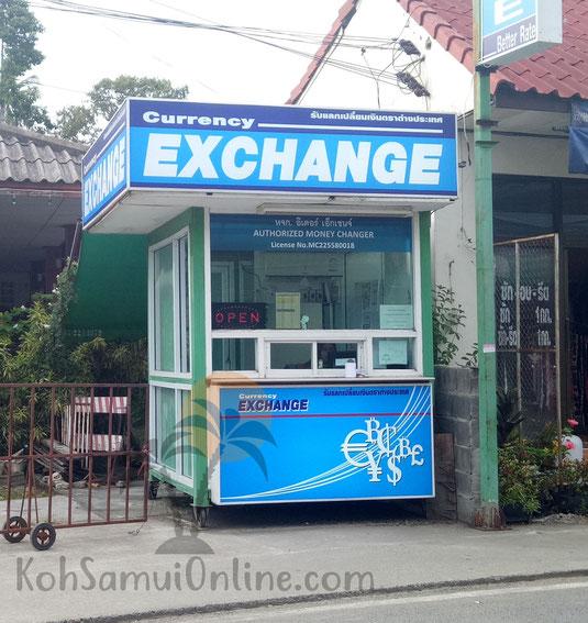 Geld wechseln in Thailand Exchange Schalter