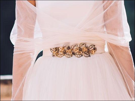 cinturones complemento tocados novia