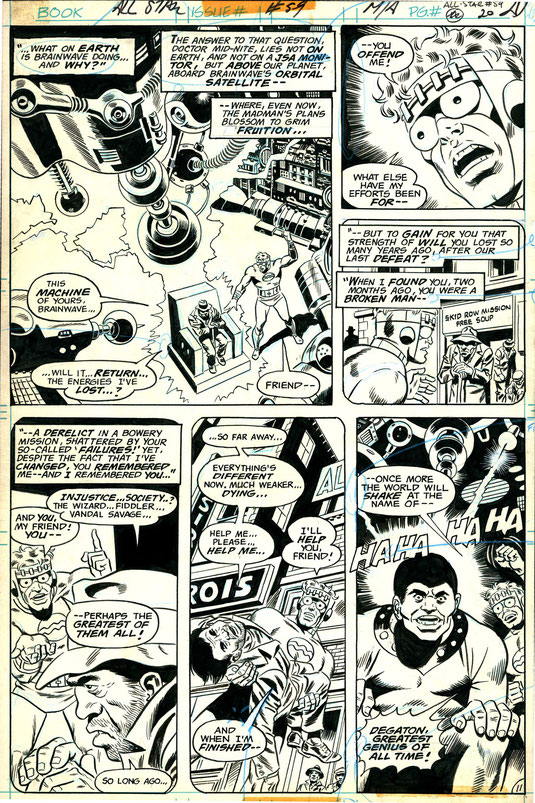 Legendary comic artist Wally Wood hired Al Sirois as his art assistant, including Al's first and last name in various background signage seen here in Panel 5 of Page 20 from issue #59 of DC Comics' All Star.