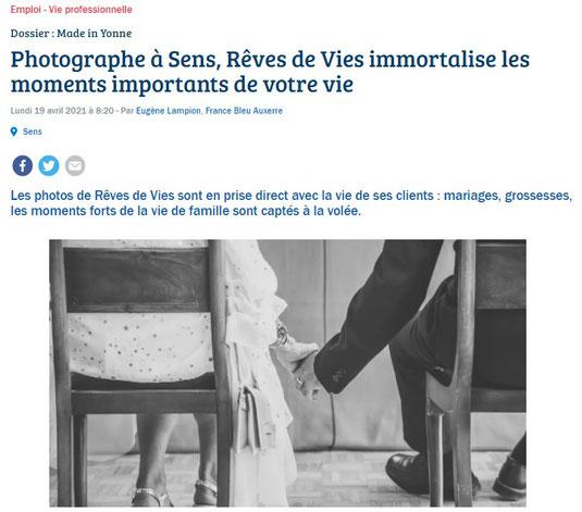 relation presse, journaliste, yonne, france bleu auxerre, photographe, radio, made in yonne, sens