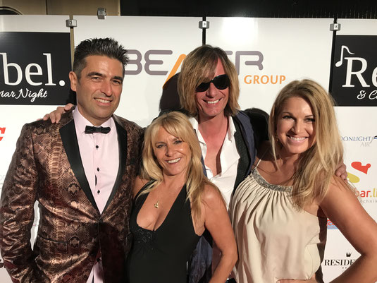 Actors and celebrities at the Rebel and Caviar Night