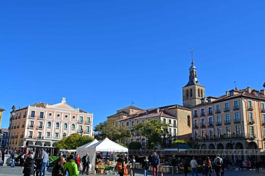 Plaza Mayor de Segovia, Ségovie espagne petite découverte