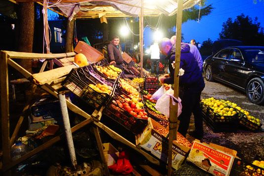 Der Obsthändler wo wir übernachtet haben