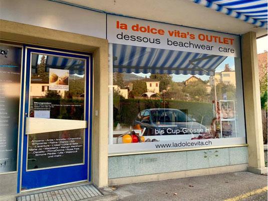 """Der Outlet-Store befindet sich direkt bei der Haltestelle """"Hadlikon"""""""