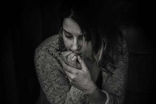 Socially-anxious woman.