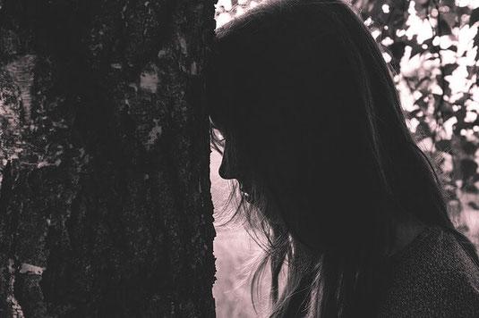 Depressed girl.