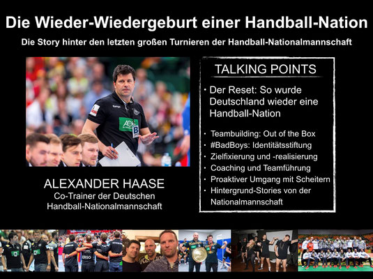 Alexander Haase ist Co-Trainer der Handballnationalmannschaft