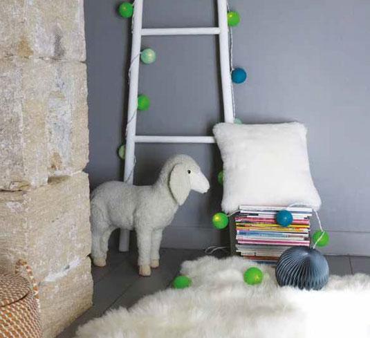 coussin en peau de mouton naturelle dt collection france