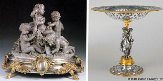 orfèvrerie Aluminium doré epoque napoléon