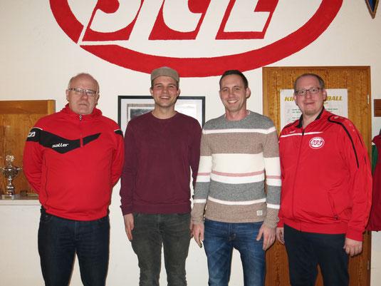 v.l.n.r. Jürgen Sickau, Johannes Kraienhemke, Nicky Schwartze, Martin Stockhofe