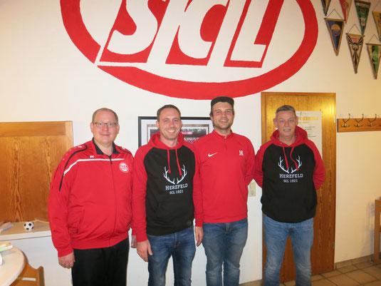 Foto v.l.n.r.: Martin Stockhofe, Nicky Schwartze, Johannes Kraienhemke, Dirk Böhnke