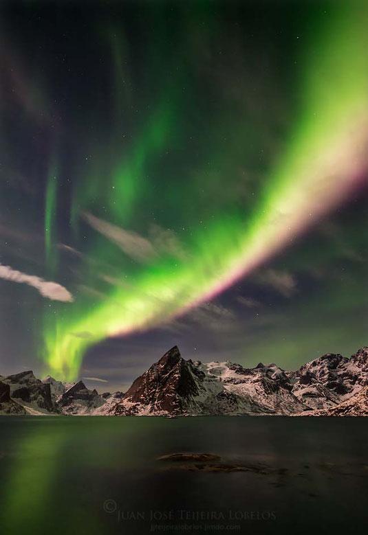 Aurora boreal en Hamnoy