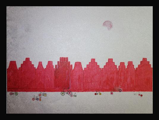 Der Prinzipalmarkt und Fahrräder - Collage Gilla Stoffers
