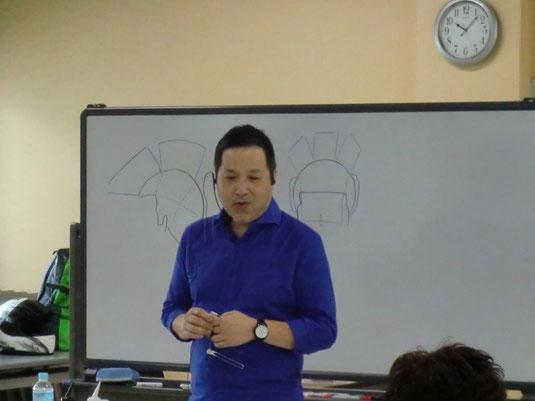 池田譲治先生(神奈川)を招いて、鹿児島早苗会講習が開催された。(2017.7.3)