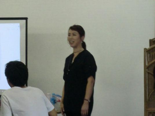鹿児島早苗会10月期の講習が、荒木美智子中央講師(佐賀)を招いて開催された。(2017.10.2)
