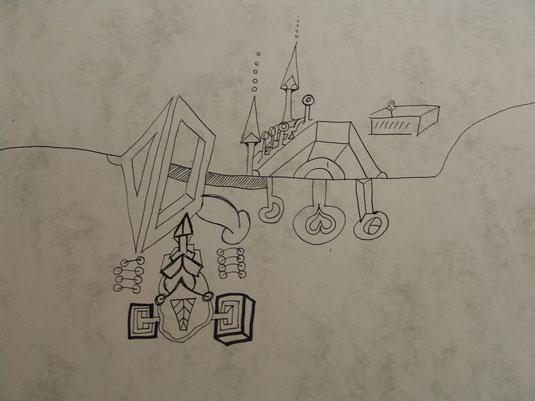Zeichnung 2017 unvollendet