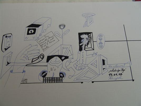 """Zeichnung """"Schwieriger Tag"""" 2017"""
