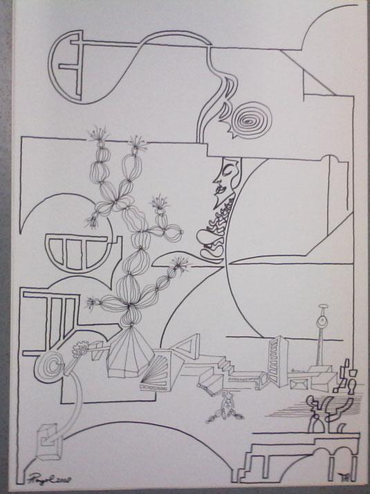 Zeichnung Til und Armin
