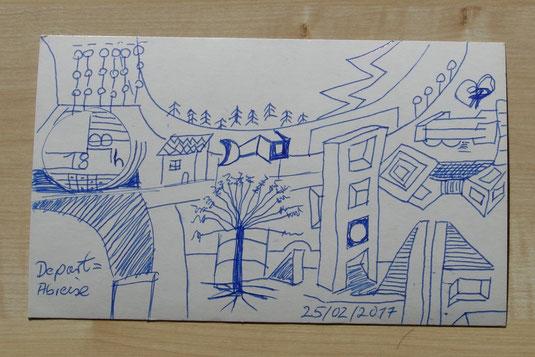 """Zeichnung """"Depart=Abreise"""" 2017"""