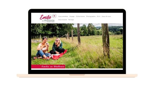 Emilie en Wallonie | Création de son site web