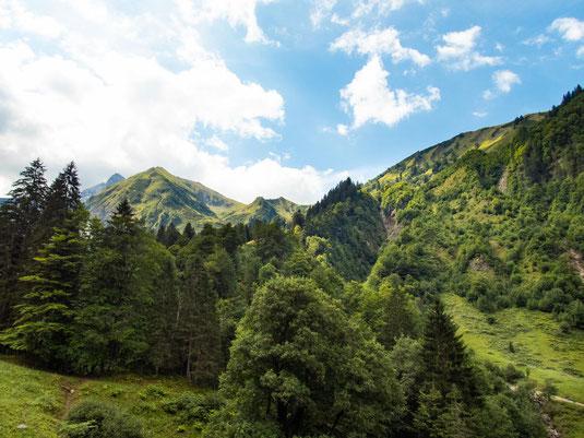 Viele sahen die Berge zum ersten Mal und waren begeistert.