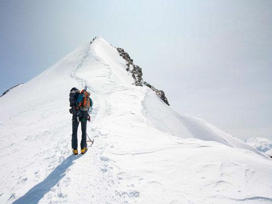 Der Gipfel des Dom ist in Sicht - noch ca. 40 Meter
