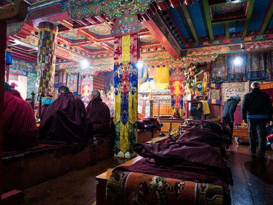 Die Zeremonie im Kloster