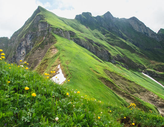 Abstieg vom Laufbacher Eck