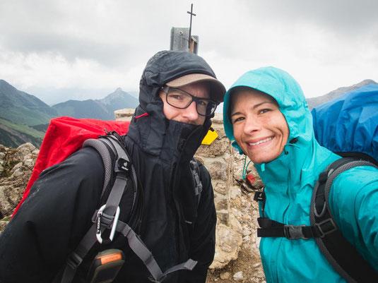 Auf dem Gipfel der Lachenspitze