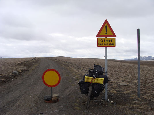 Photo from the bike trip in Iceland: This time, we might gonna have better roads from Germany to Rome.