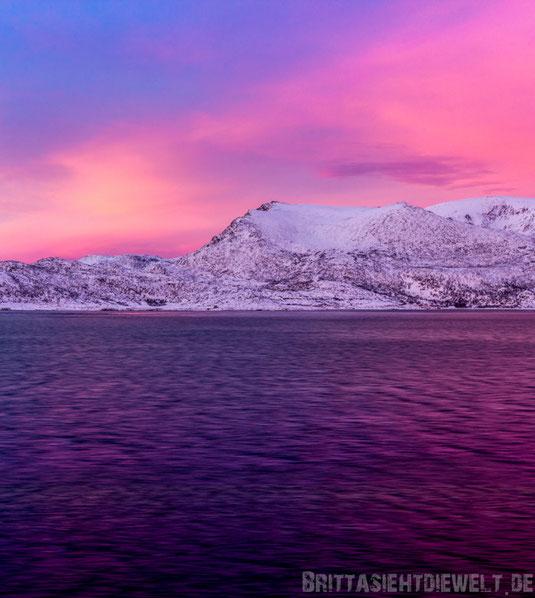Sonnenuntergang,Hammerfest,Hurtigruten,ms,Midnatsol, Postschiff,Winter,November,Tipps