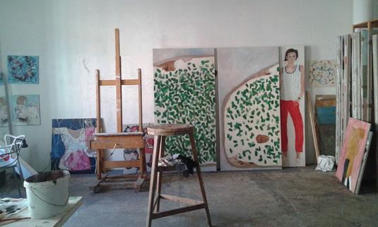 Atelieransicht Eva Hradil Sommer 2015
