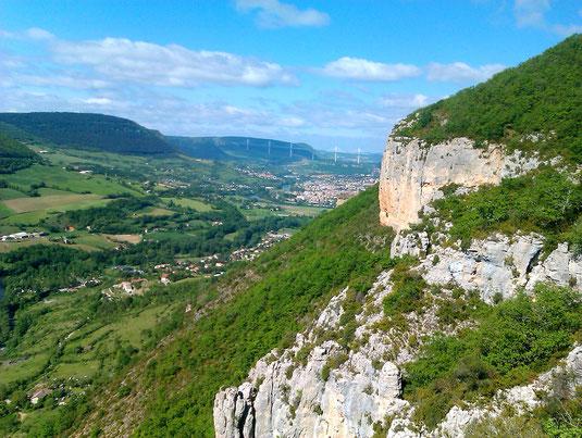 Millau Triathlon - Viaduc de millau - paysages Aveyron