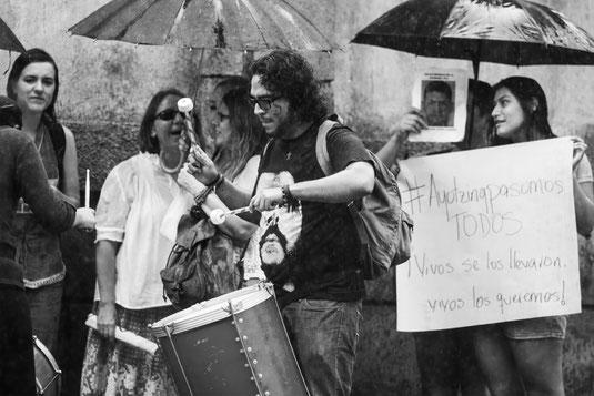 Protesta sobre los desaparecido en México