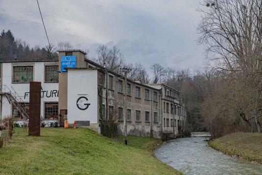 Fabrik La Sarraz am Ufer der Venoge