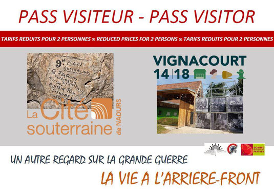 The Visitor Pass gives you a discount price in Naours and Vignacourt.