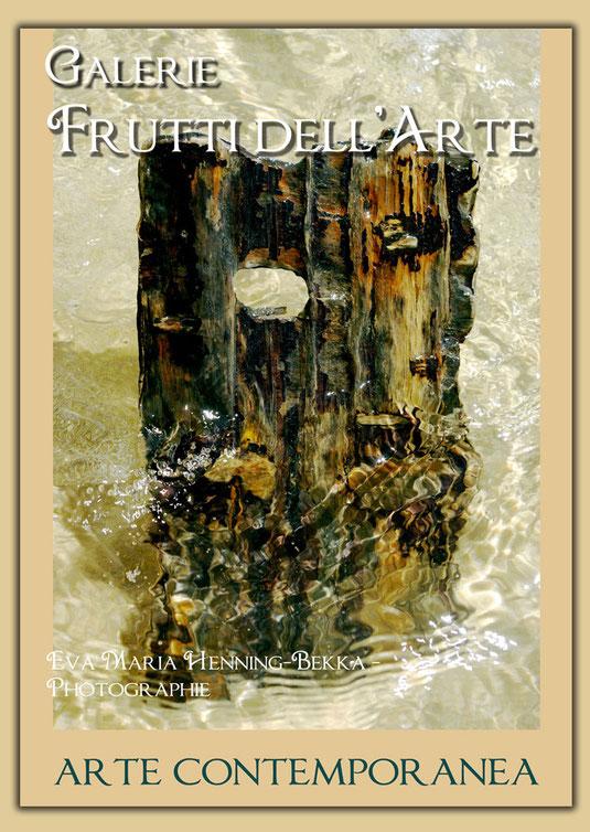 """Plakatentwurf """"Das Gesicht und das Meer"""" zur Aachener Kunstroute 2016 mit einem Motiv einer Fotografie von Eva Maria Henning-Bekka"""