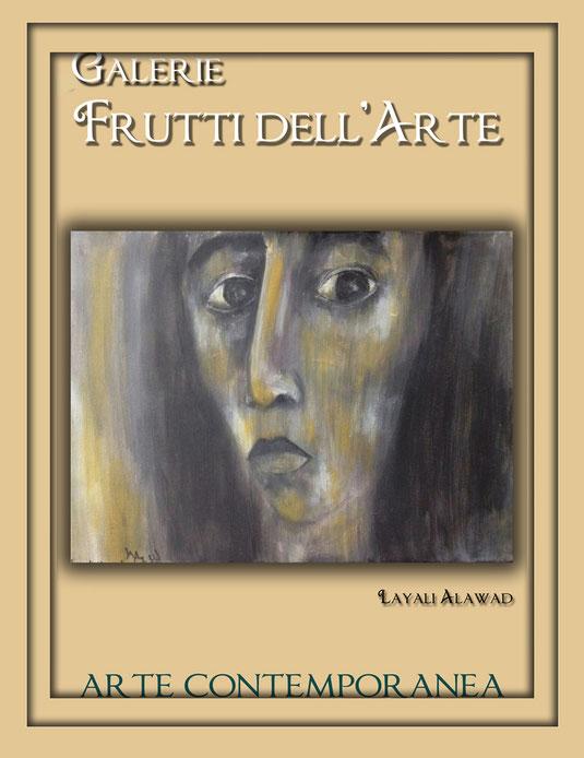 Plakatentwürfe mit Motiven von Layali Alawad zur Aachener Kunstroute 2016 in der Galerie Frutti dell'Arte und der Ausstellung Spektrum 2016 in der Aula Carolina