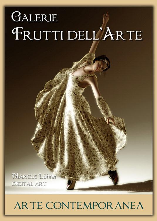 Plakate zum Thema Mode auf der Aachener Kunstroute 2016 in der Galerie Frutti dell'Arte in der Viktoriastrasse 24 in Aachen.