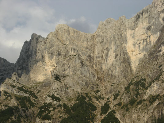 Roßkuppe Nordwestkante Roßkuppenkante, Nordwand Gesäuse von der Haindlkarhütte