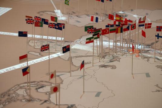 Interaktive Weltkarte im jüdischen Museum, Berlin. Bild: Timo Mäule.