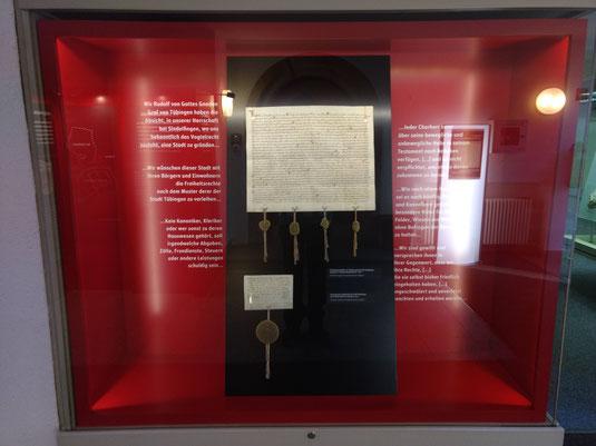 Gründungsurkunde der Stadt Sindelfingen. Bild: Timo Mäule, mit Genehmigung des Stadtmuseums.