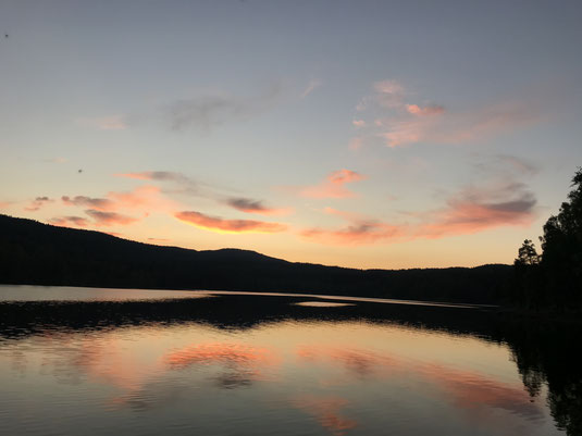 Bei unserem letzten Besuch am See Sognsvann, zeigte er sich nochmal von seiner besten Seite