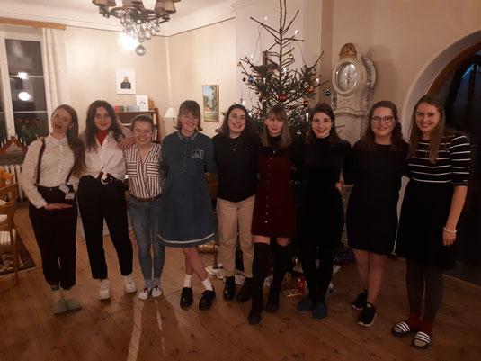 Weihnachten in Vadstena mit den anderen Praktikantinnen