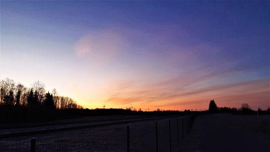 14 Minuten bis Sonnenaufgang