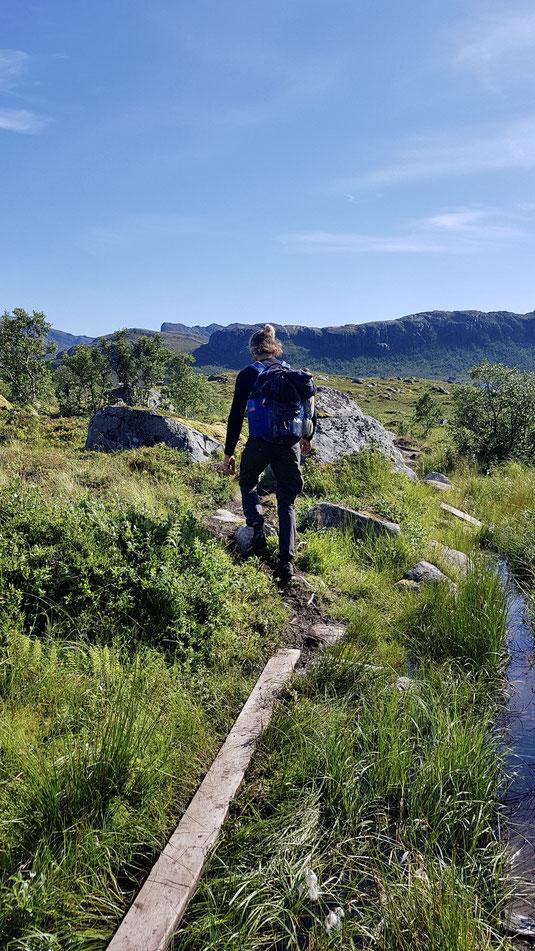 Piets Wanderung auf den Lofoten. (Foto: Katja)