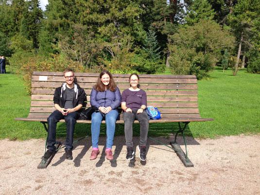 Patrick, Sophie und Hanne in Uppsala