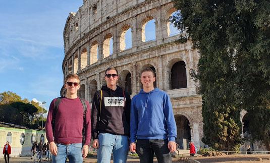 Thomas, Phillip und Lasse in Rom