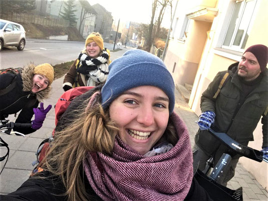 v.l.n.r.: Alex, Emelie, Anna Maria und Leo